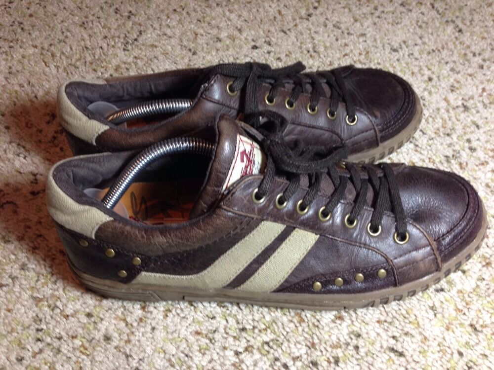 SEVEN JEAN Company Brown Leather Sneakers 10. Ked