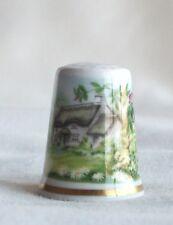 Royal Worcester Cottage Garden Fine Bone China Thimble TCC April 1988