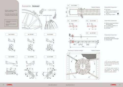 4 x Spal Mounting Bracket Strip Kit 200mm Long Genuine Product!