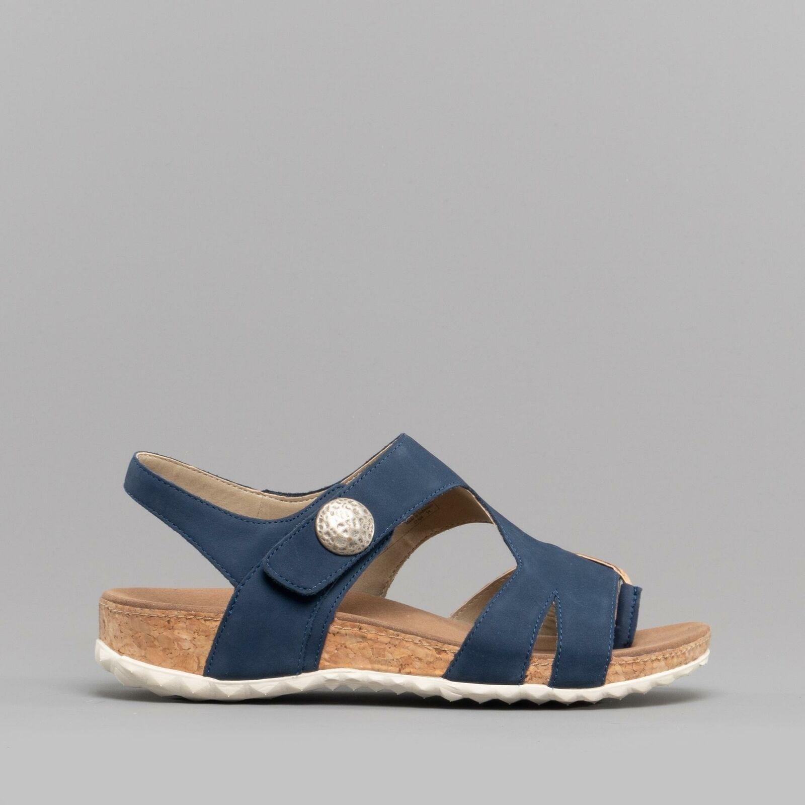 Romika Florenz 04 Stivali in Pelle Tocco Fissare Estate Sandali Misure Ocean Combi blu
