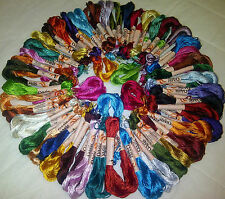 50 Skeins Large Silk Stranded Embroidery Skeins Threads 50 different Colors