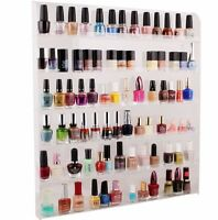 Large Acrylic Clear Nail Polish Organizer Display Wall Rack Fit 90 To 120 Bottle on sale