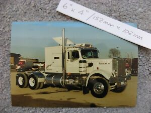 150mmX100mm 1960`S CLASSIC AUTOCAR CONVENTIONAL SHOW TRUCK TRUCKING PHOTO