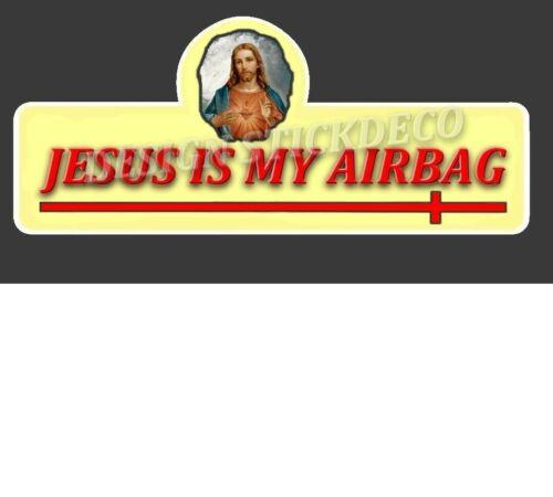 Autocollant Sticker Citroen 2CV Jesus Is My Airbag STICKERS