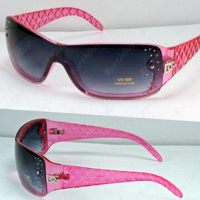 New DG Eyewear Designer Womens Rhinestones Sunglasses Shade Fashion Pink Retro