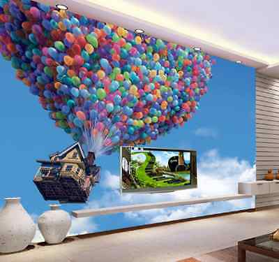 Details about  /3D Balloon House 365 Wall Paper Wall Print Decal Wall Deco Indoor AJ Wall Paper