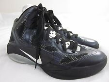 Nike Hyperfuse Zoom 2011 Size 7 Black and White Basketball Shoes Men's