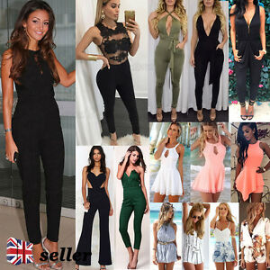 UK-Sexy-Celeb-Womens-Playsuit-Summer-Beach-Ladies-Jumpsuit-Mini-Shorts-Sun-Dress