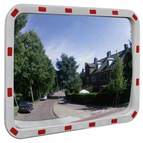 """Convex Traffic Mirror Rectangle 24/"""" x 31/"""" with Reflectors"""