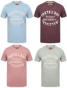 Mens-Tokyo-Laundry-Ellsworth-Printed-Crew-Neck-T-Shirt