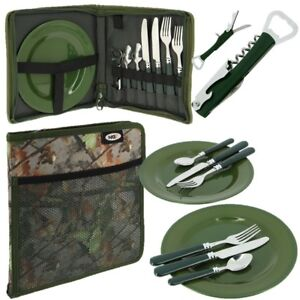 CAMPING PICNIC SET IN CASE CARP FISHING INSULATED CARRYALL HOLDALL TACKLE BAG