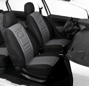 Image Is Loading 2 Grey High Quality Front Car Seat Covers