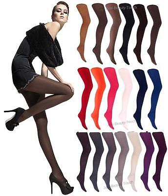40 Denier Opaque Microfibre Tights by Fiore Paula sizes S - XXL Various Colours