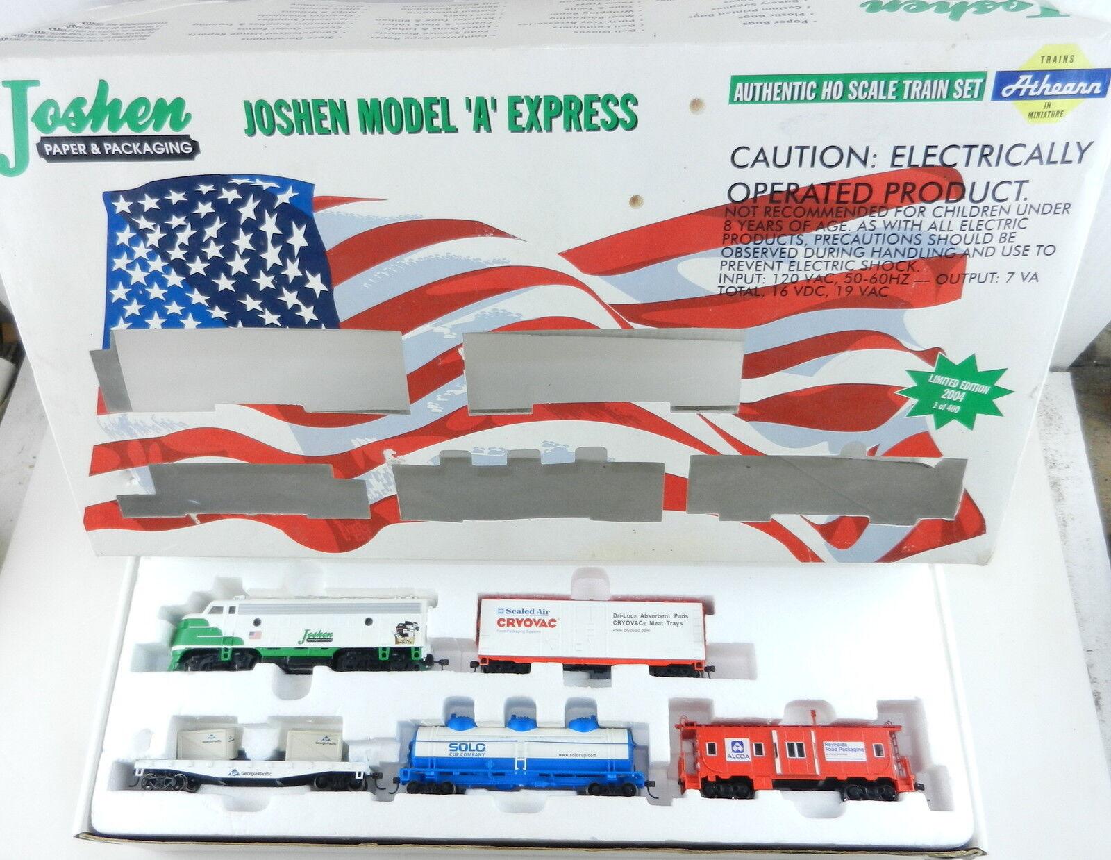 Athearn Ho Joshen modelo  a  Express Set Locomotora-Coches-Transformador-pista T29