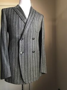 e44cf72c06 New $3985 Ermenegildo Zegna Couture Sport Coat Blazer Blue 44 US ...