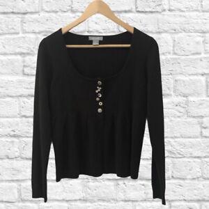 dELiA*s Crop Cardigan Black Size Medium
