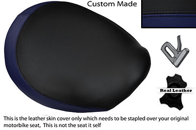 BLACK & NAVY BLUE CUSTOM FITS TRIUMPH THUNDERBIRD 1600 1700 FRONT SEAT COVER