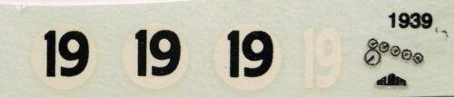 Delahaye Le Mans 1939 N°19 decals 1//43