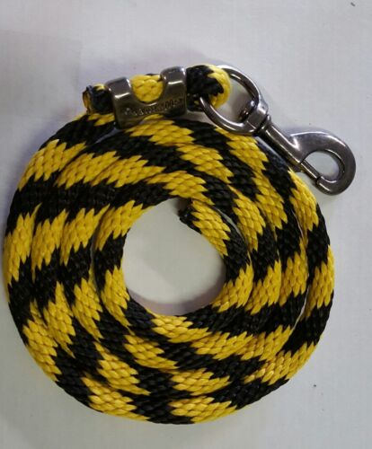 WEAVER Nylon  Lead Rope 70 inches with steel  Swivel Snap black//yellow