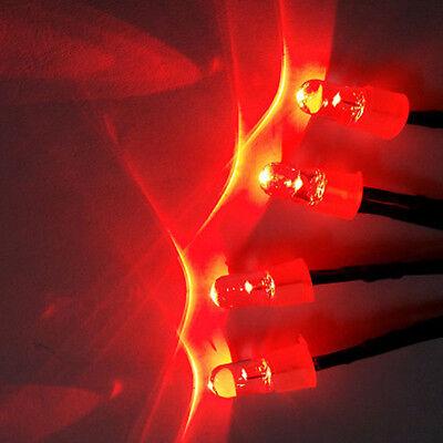 RC On-Road 1//10 Model Drift Car LED Night 5mm Headlamps Headlights Light Red 4pc