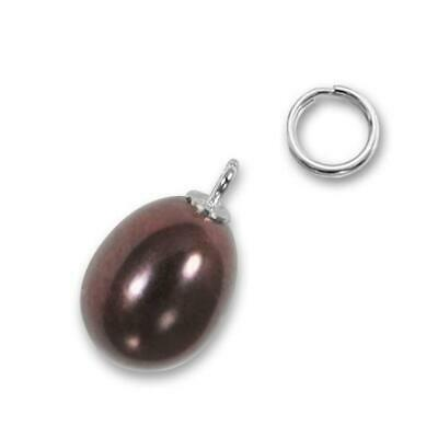 TheCharmWorks Sterling Silver Freshwater Peach Pearl Clip on Charm