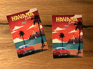 2x CUBA Havana Reise Aufkleber Koffer Old School Oldtimer Vintage Club WOW TR010