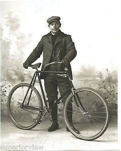 vintage bicycle rider time bike wool hat clothes