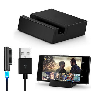 Desktop-Dock-Set-Metal-Magnetic-USB-Cable-for-Sony-Xperia-Z3-Z3-Compact-Gift