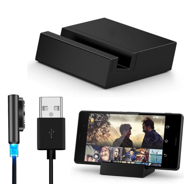 Metal Magnetic USB Cable + Desktop Dock Set for Sony Xperia Z3 / Z3 Compact Gift