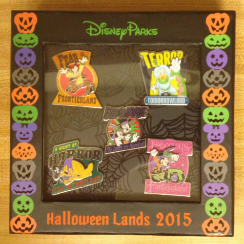 Disney Lands Are Haunted 5 Pin Box Set LE1000 MINNIE DONALD COMPLETER MICKEY