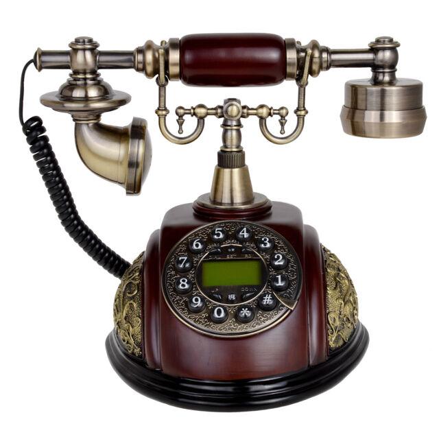 Kmise116A Retro Vintage Antique Telephone Push Button Dial Desk Phone Room  Decor - Kmise116a Retro Vintage Antique Telephone Push Button Dial Desk