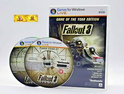 Fallout 3 PC Video Game Post Apocalyptic Action RPG Role Playing Open World  | eBay