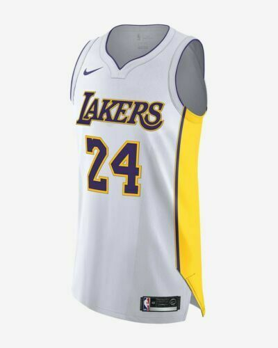 super popular c90ee 97244 Mens Nike Los Angeles Lakers Kobe Bryant 24 Jersey Aq2106-100 White Size 40  for sale online | eBay