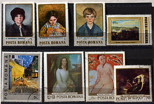 Romania-Paintings-Painter-Pack-Stamps-78M9