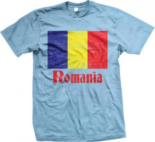 Romania Flag Rumania Roumania Mandrie Romanian Pride Mens T-shirt