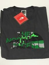 "The North Face S/s ""camo Logo"" Mens T-shirt L Sz Large Tee Gray Cotton"