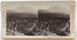 Vesuvio-Lavastoviglie-Italia-Foto-Stereo-Stereoview-N-L9-Vintage-Albumina-1897