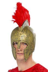Adulte-Romain-Ancien-Persee-Casque-De-Gladiateur-avec-Plume