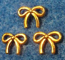 100Pcs. WHOLESALE Tibetan Antique Gold BOW Ribbon Charms Earring Drops Q0163