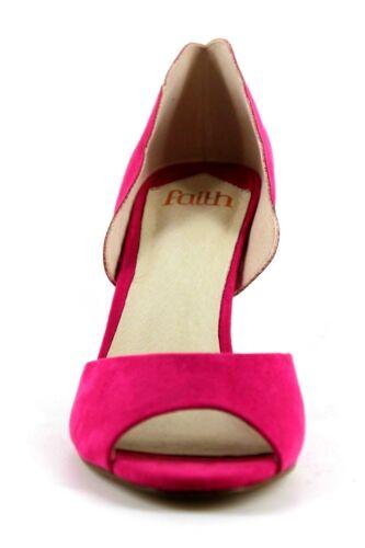 Lisa Faith Womens Shoes Suedette Uk Stiletto 6 Pink Toe High Eu39 Peep Heel fqqx1drwRn