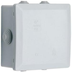 5 Way Exterior Junction Box, IP55 Rated, 100 x 100 x 55mm with 5 ...