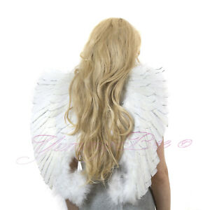 Angel Wings Fancy Dress up Fairy Feather Costume Outfit Large Adult Party UK