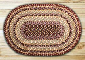 Oval And Round Jute Area Rugs By Earth Rugs Burgundy Gray Cream