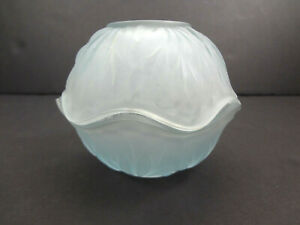 Vintage-Indiana-Glass-Pebble-Leaf-Fairy-Lamp-Mid-Century-Frosted