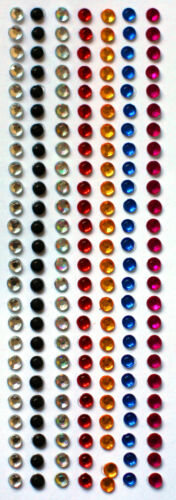 Self Adhesive Stick On Diamante Flat Back Rhinestone Gems Multi Colour Art Craft