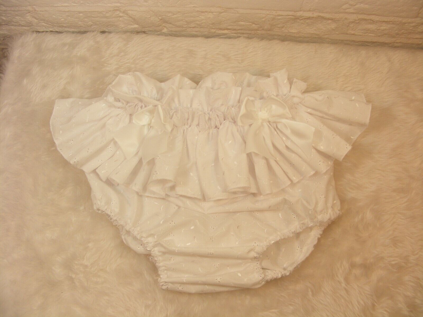 ADULT BABY SISSY broderie anglais DIAPER COVER PANTIES fancy dress OPT LININGS