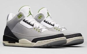 GS Air Jordan 3 Retro 398614-006 Smoke Grey Chlorophyll Tinker 2018 ... 7c916774d