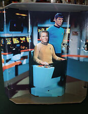 Star Trek diorama backdrop 1:6 scale figures Kirk Spock Enterprise leonard Nimoy