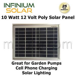 100W (10 x 10 W) 12V Solar Panels Off Grid Battery Charging Lighting, Pump, Gate