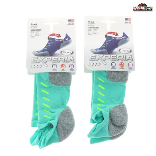 No Show Thorlo Experia Socks Spearmint ~ 2 Pair Small ~ New